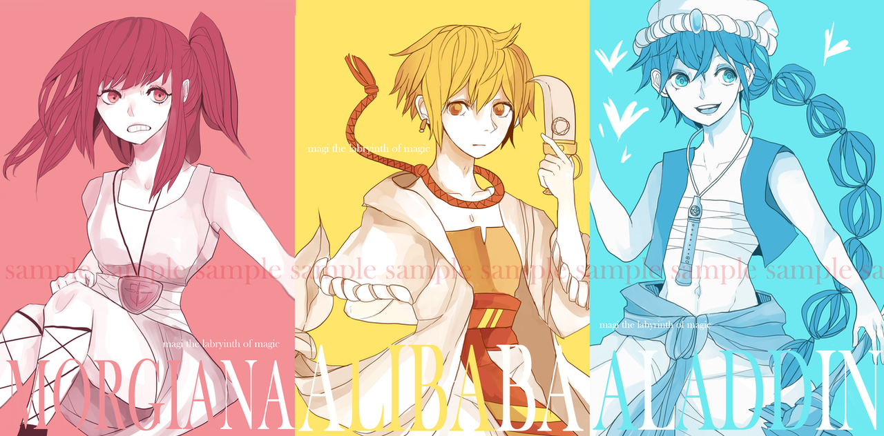 Magi postcards (store is up!) by Sychandelic