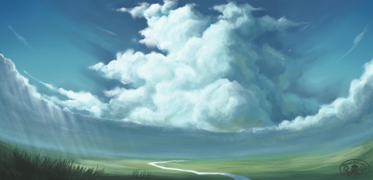 Landscape  study v.1 by Cthulhu-Great