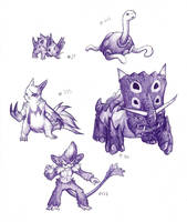Pokedoodles week five by Phycofox