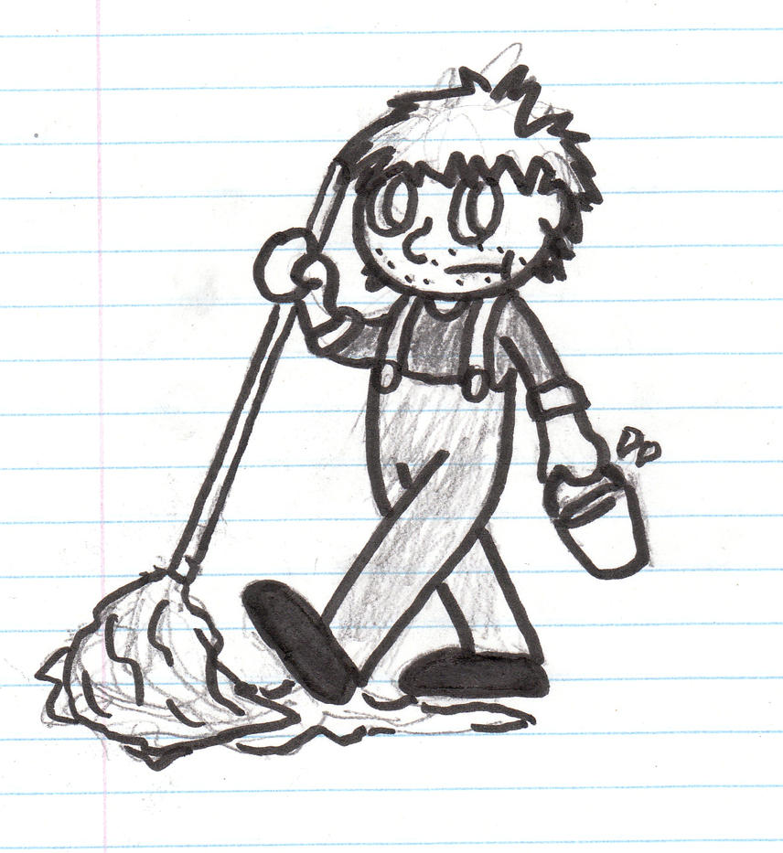 A Janitor In My Math Notes by Cathartes-Aura on DeviantArt