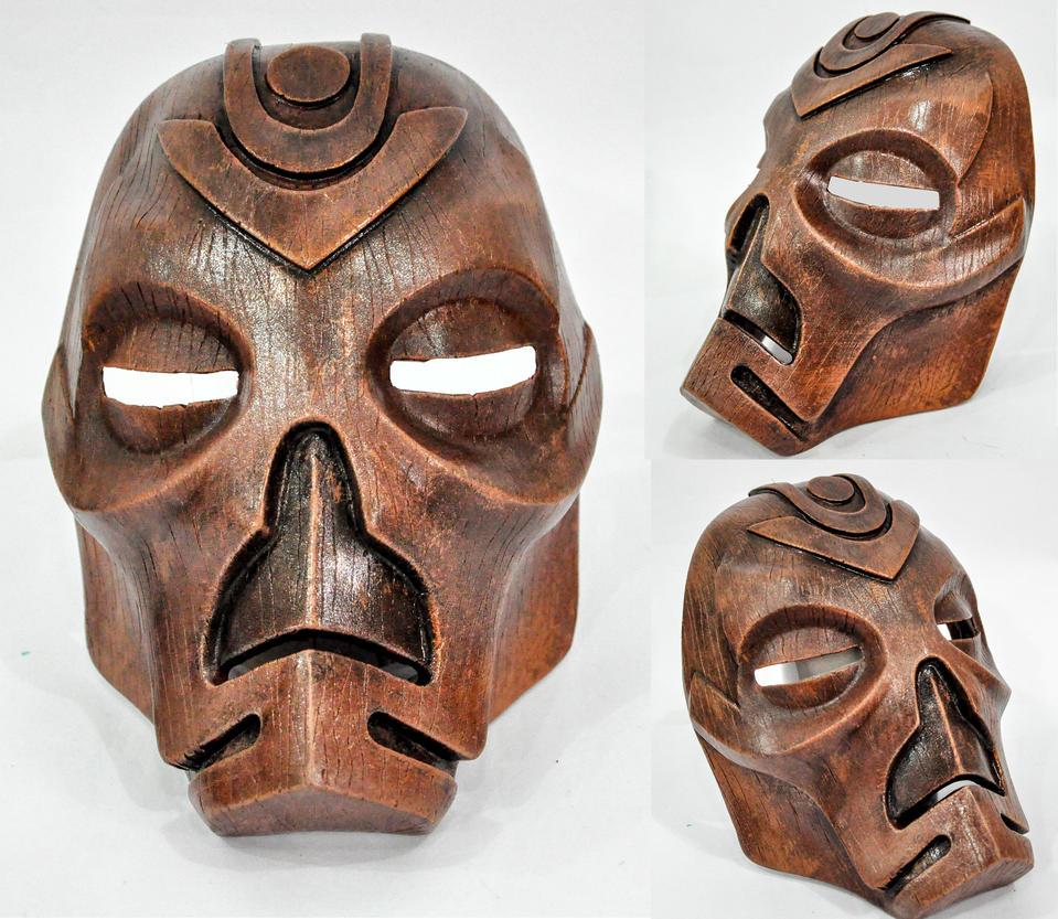 TESV - Wooden Mask by ReplicanteCustom
