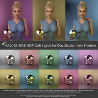 VA2016: RGB HDRi Soft Lights for Daz Studio - Iray by VAlzheimer