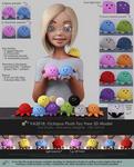VA2018: Octopus Plush Toy Free 3D Model - Sheet 1