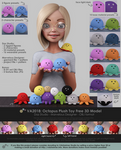 VA2018: Octopus Plush Toy Free 3D Model - Sheet 1 by VAlzheimer