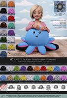 VA2018: Octopus Plush Toy Free 3D Model - Sheet 2 by VAlzheimer