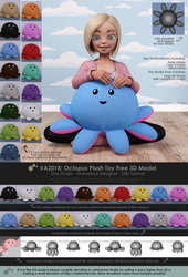 VA2018: Octopus Plush Toy Free 3D Model - Sheet 2