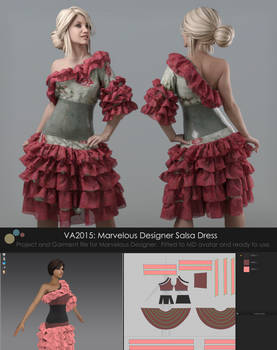 VA2015: Marvelous Designer Salsa Dress [Gumroad]