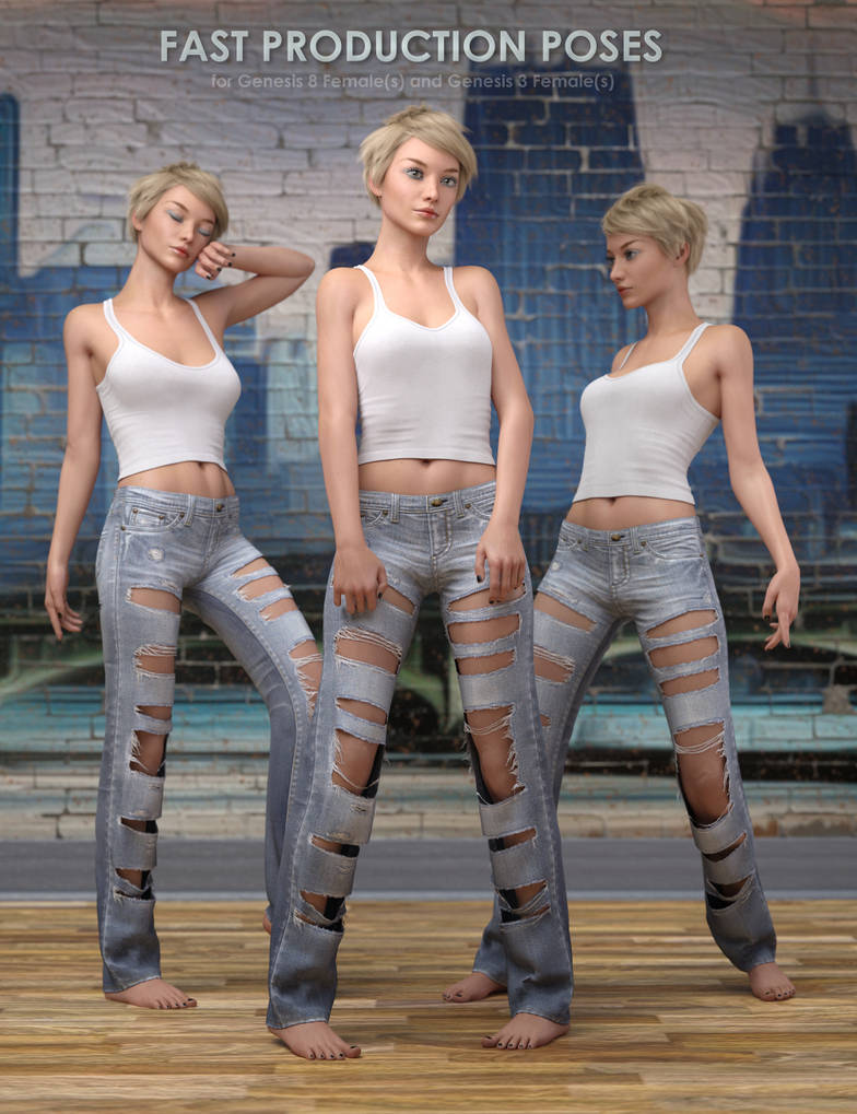 Fast Production Poses for Genesis 3 and 8 Females