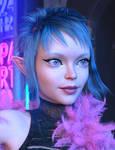 dForce Mod Punk Hair (Daz3D) Promo02