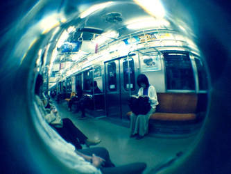 Fisheye Japan - Trains 1 by Skybase