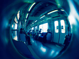 Fisheye Japan - Trains 2 by Skybase