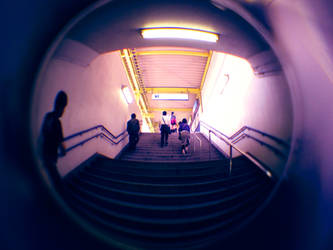 Fisheye Japan - Station Stairs by Skybase