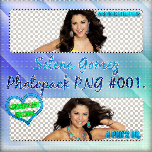 +Selena Gomez Pack PNG #001. by StrongHeartEditions