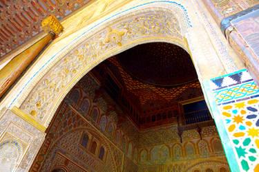 Moorish Arch in the Alcazar of Seville