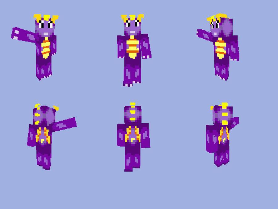 Spyro In Minecraft by Jpeterp on DeviantArt  Spyro Minecraft Skin