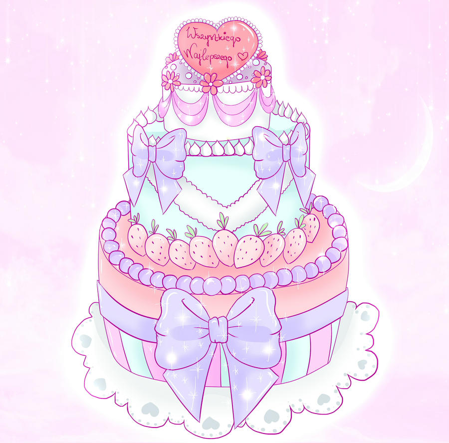 Kawaii Birthday Cake By Msrecklessdrawing On Deviantart