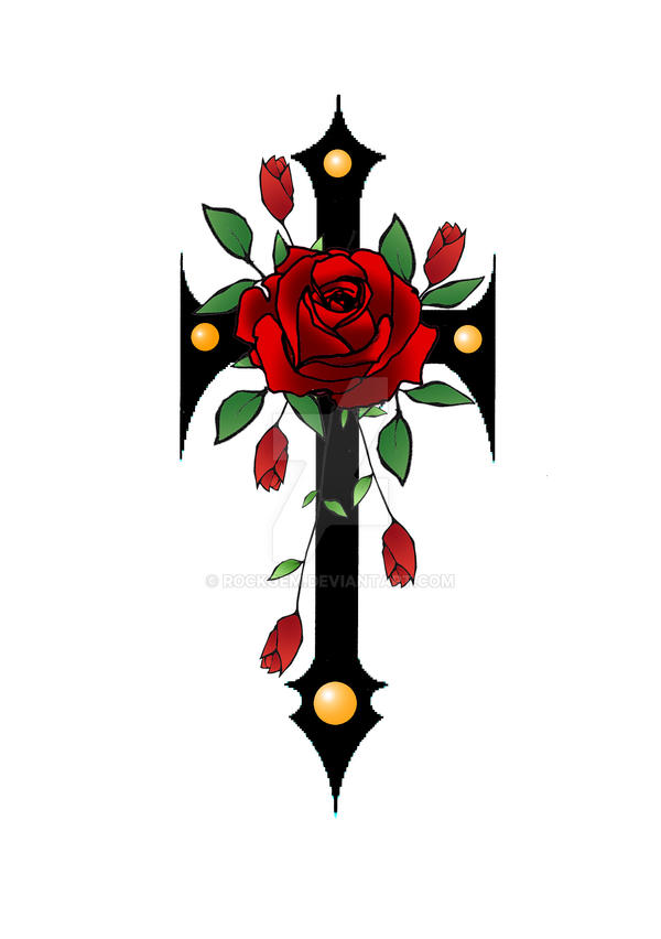 gothic cross an roses II by rockgem on DeviantArt