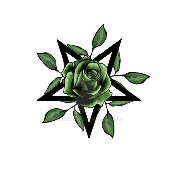 green rose pentagram by rockgem on deviantart. Black Bedroom Furniture Sets. Home Design Ideas