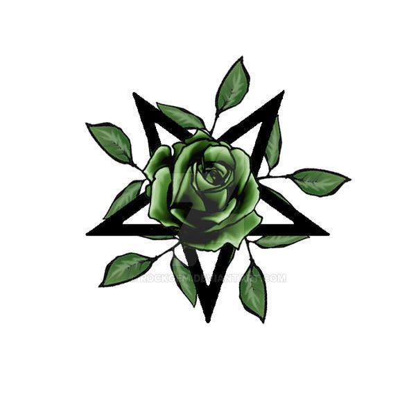 green rose pentagram by rockgem on deviantart. Black Bedroom Furniture Sets. Home Design Ideas