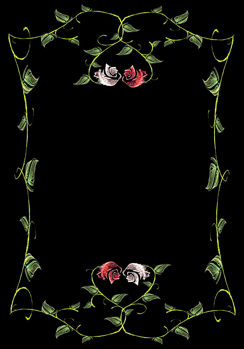 Lit. Template - Rose Vines by rockgem