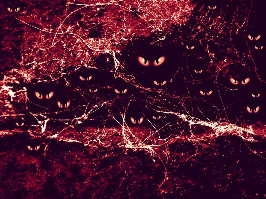 wallpaper dark red. Eyes in dark red -wallpaper by