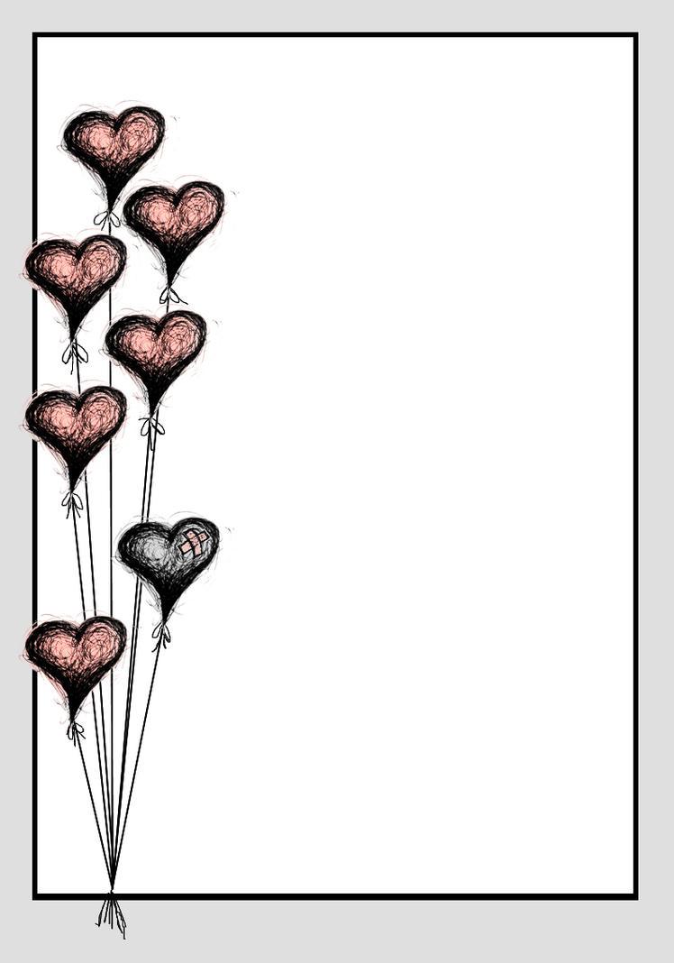 Lit. Template -  Black Balloon by rockgem