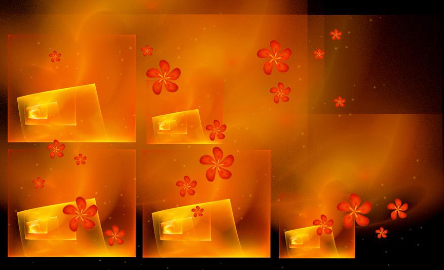 Wallpaper - fire flowers... by rockgem
