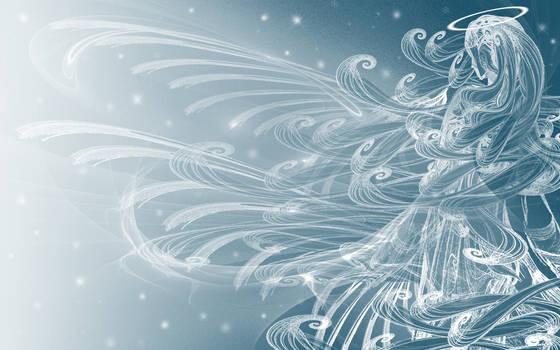 Winter's Angel - Wallpaper