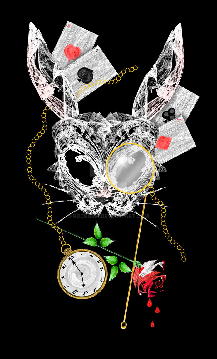 White Rabbit Mask by rockgem