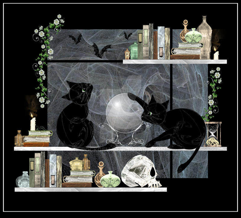 Witch-Cats by rockgem