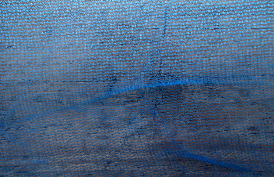 Stock Texture - Blue Netting by rockgem