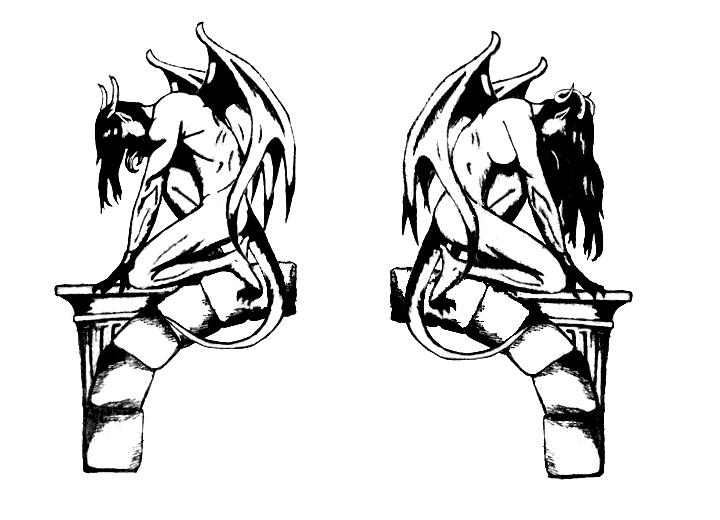 gargoyles and arches tattoo design by rockgem on deviantart. Black Bedroom Furniture Sets. Home Design Ideas