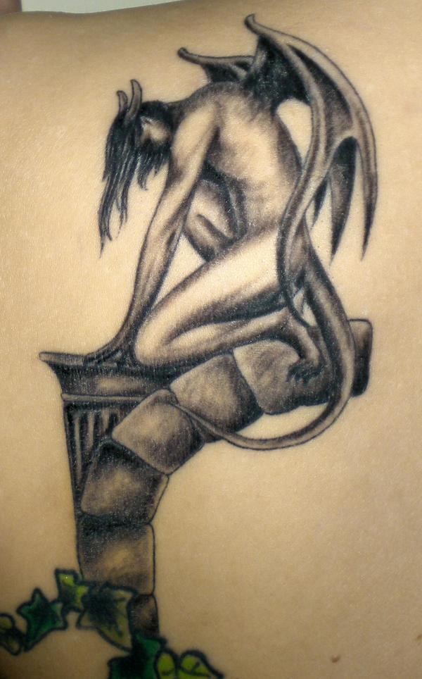 gargoyle tattoo left shoulder by rockgem on deviantart. Black Bedroom Furniture Sets. Home Design Ideas