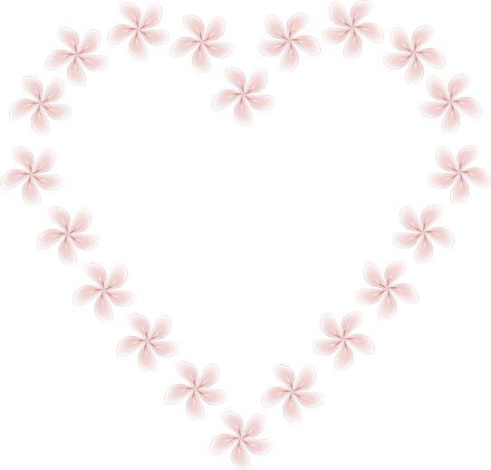 Fractal manip Stock - lil Flowers heart by rockgem