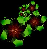 Fractal Manip. Stock - Dark Flower Spiral by rockgem