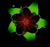 Fractal Manip. Stock - Dark Flower by rockgem