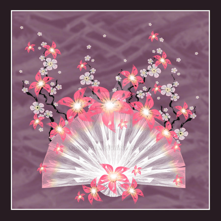 Pink Flower Fan by rockgem