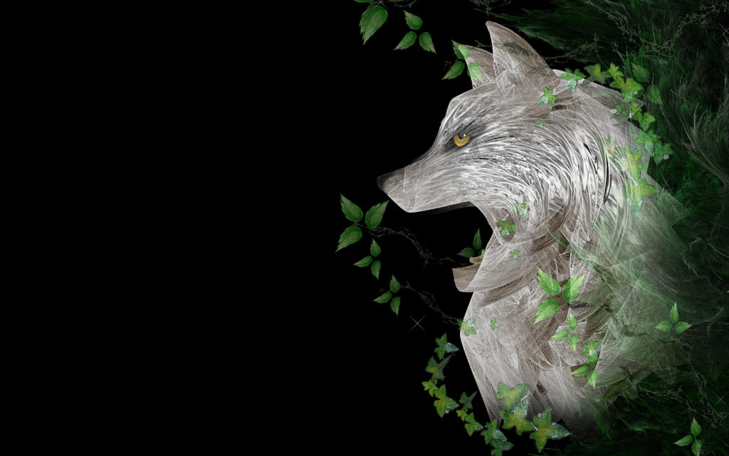 Forest wolf wallpaper by rockgem on DeviantArt