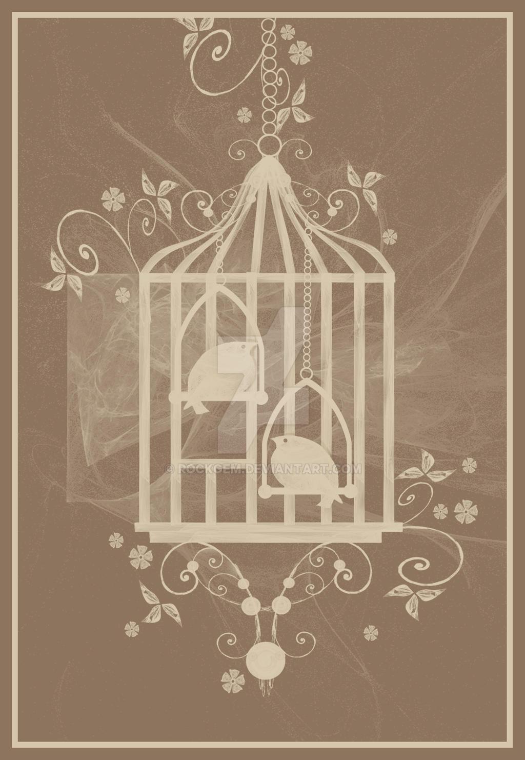 Vintage Birdcage by rockgem