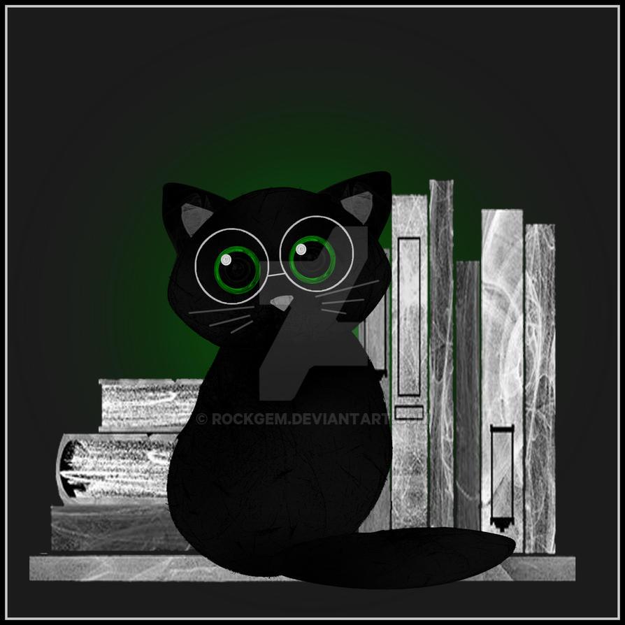 Library Cat by rockgem