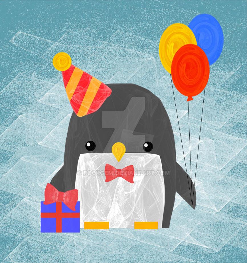 Party Penguin by rockgem