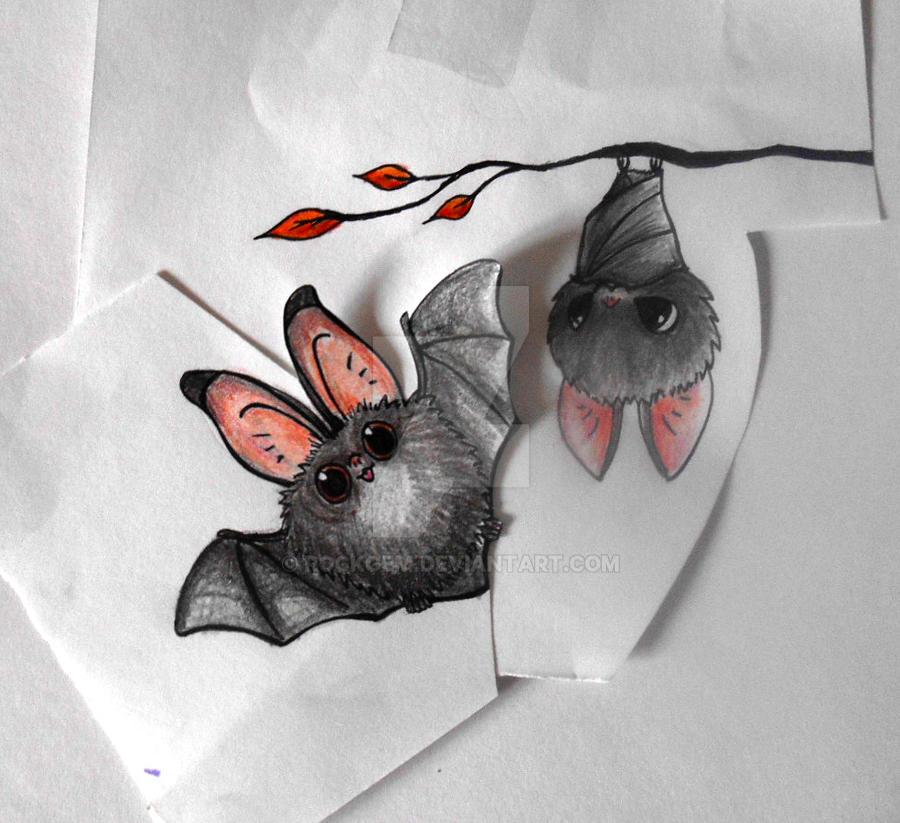 tattoo design two cute bats by rockgem on deviantart rh deviantart com small cute bat tattoos Cute Bat Wings