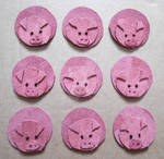 Nine little piggies
