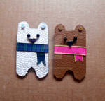 Leather Two little bears