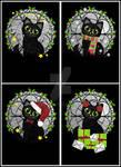 4 Festive Black Cats