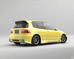 Honda Civic EG6 Bodykit Rear by Liemn
