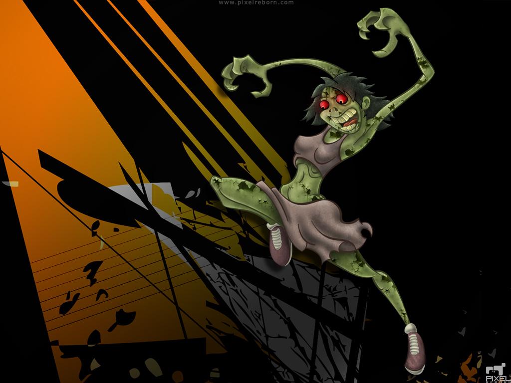 Zombie Cheerleader Wallpaper by Liemn
