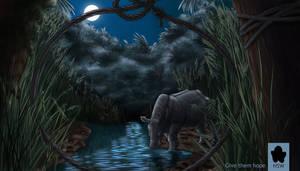 Ely: Javan Rhino by EatingYourSpleen