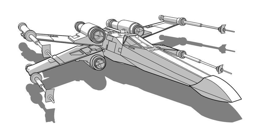 SW Vehicle - T-65 X-Wing by Obhan on DeviantArt on tie interceptor schematics, at-at schematics, slave 1 schematics, minecraft schematics, y-wing schematics, a wing fighter schematics, halo warthog schematics, b-wing schematics,