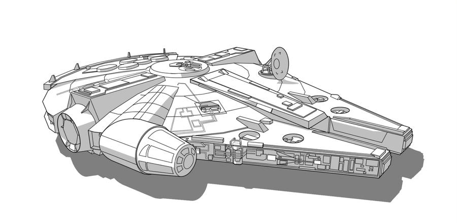Charming SW Vehicle   Millennium Falcon By Obhan ...